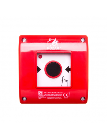 2Z 1R red surface-mounted fire button