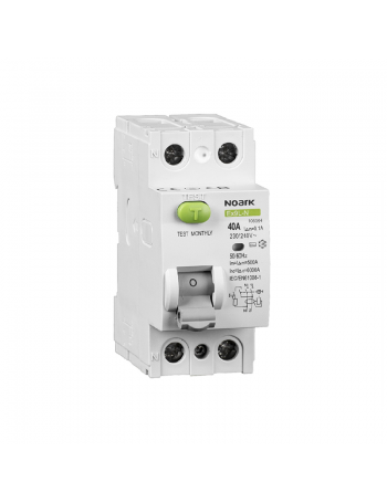 NOARK 2P 40 A 100 mA typ A residual-current circuit breaker