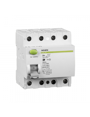 NOARK 4P 40 A 300 mA 3F typ A residual-current circuit breaker