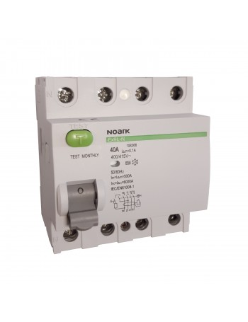 NOARK 4P 40 A 100 mA 3F typ A residual-current circuit breaker